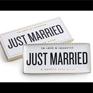 Rosanna 'Just Married' Porcelain Tray
